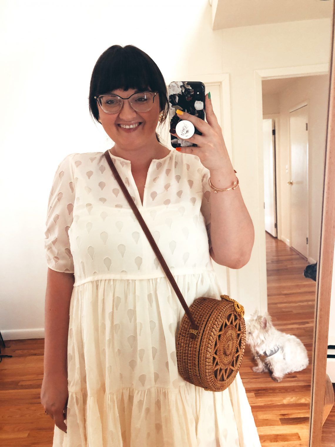 travel blogger, fashion blogger, food blogger, ootd, style, outfit, foodie, blogger, travel blog, fashion blog, food blog, bucket list, bucket list check, married life, married as fuck, mrs and mr judish, lynzi judish, dave brown, bucket list blog, NYC, body image, body positivity, lifestyle, plus size, ootd, outfit of the day, Shein, H&M, walking on clouds, puff-sleeve dress, leopard print heels, face earrings, gold face earrings, woven bag, straw bag